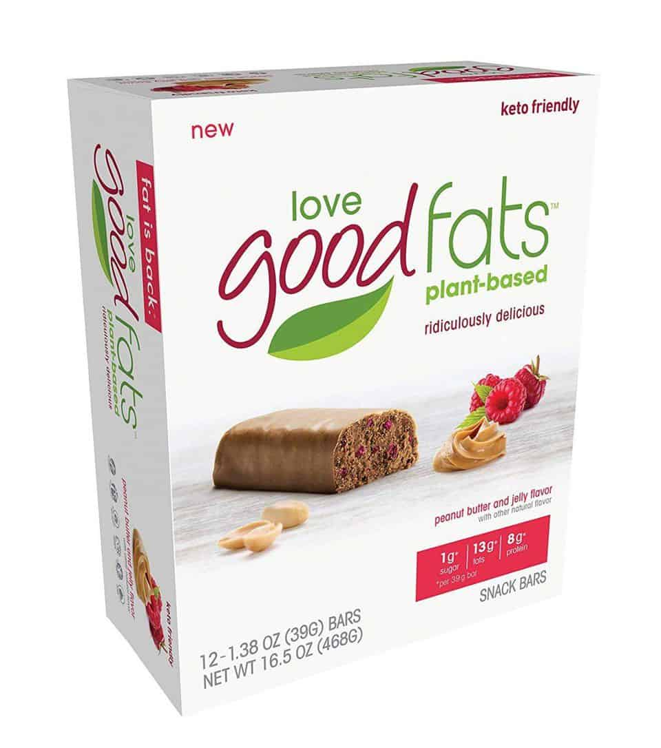 Love Good Fats Plant Based Bars in Box
