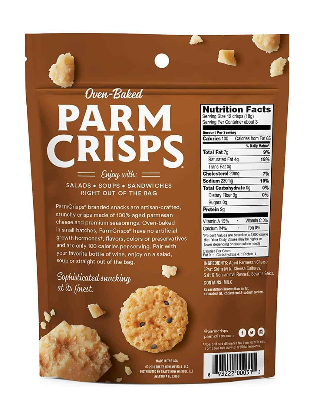 Simple Ingredients In ParmCrisp Cheese Crisps