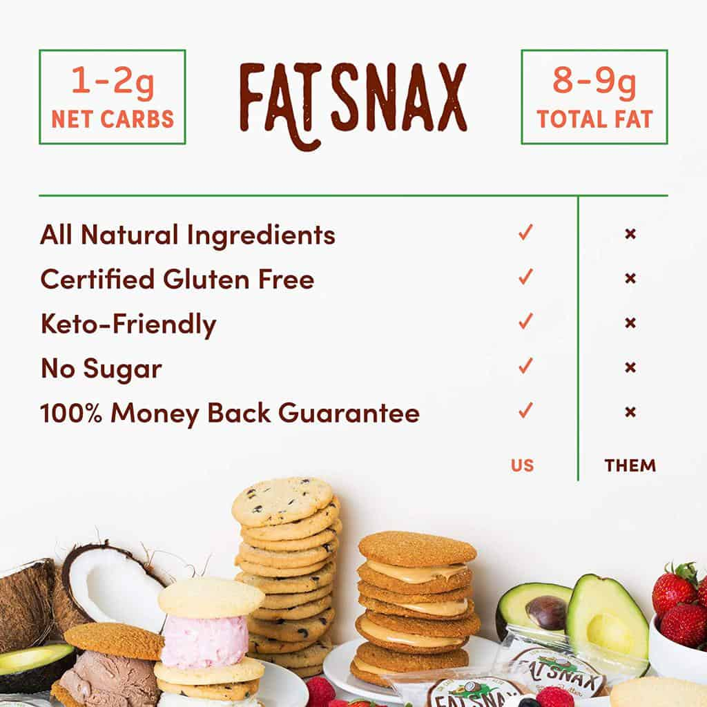 low carb fat snax cookies